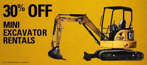 Mini Excavator Promo