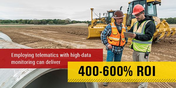 Employing telematics with data monitoring can deliver 400-600 percent ROI