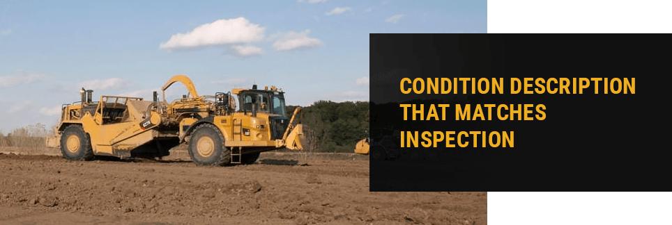 Condition Description That Matches Inspection