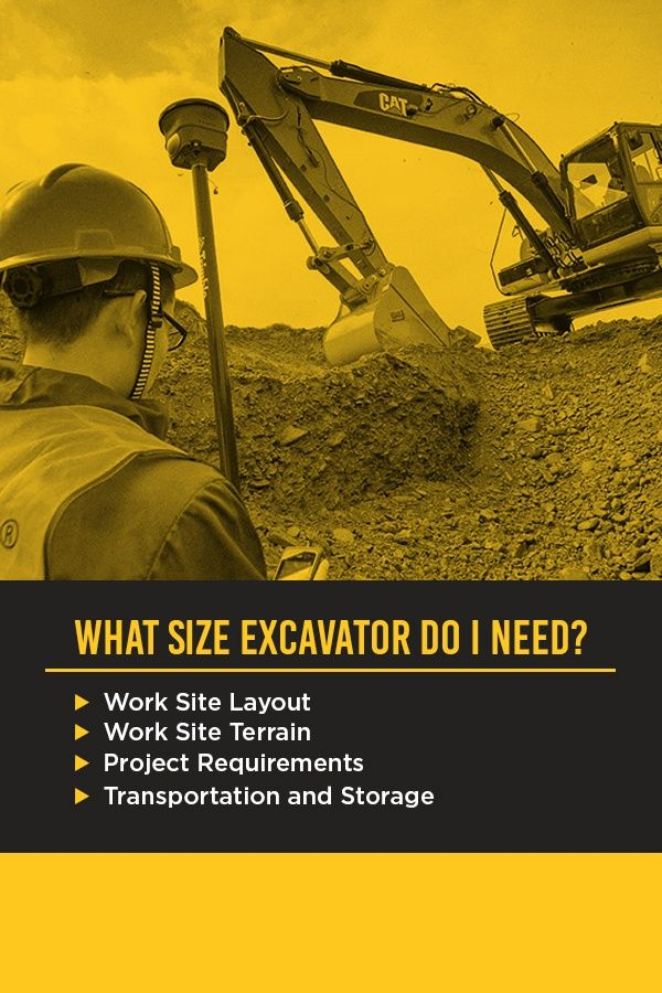 What Size Excavator Do I Need? Consider these factors when determining what size excavator you need.