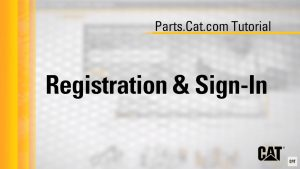How to register for parts.cat.com