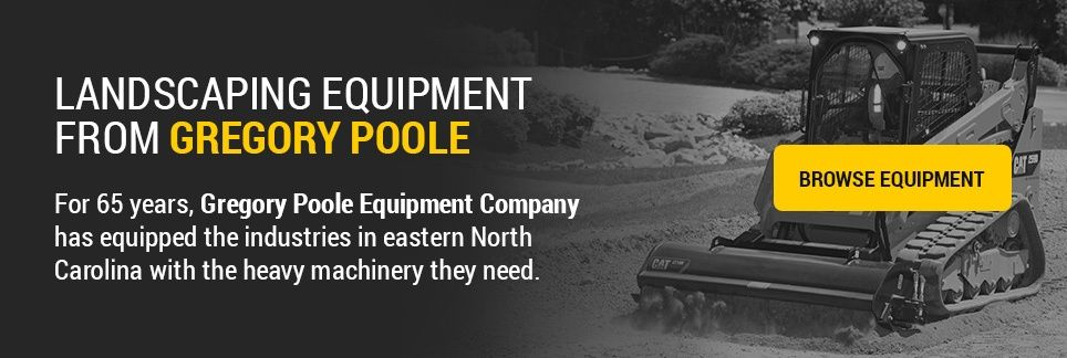 Landscaping Equipment from Gregory Poole: For over 65 years, Gregory Poole Equipment Company has equipped the industries in eastern North Carolina with the heavy machinery they need.