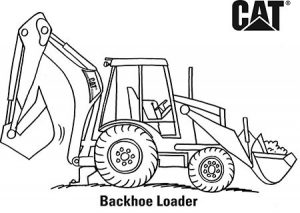 Excavator Coloring Page - Ultra Coloring Pages | 213x300