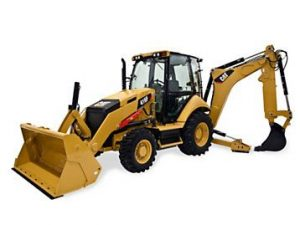 Cat backhoe