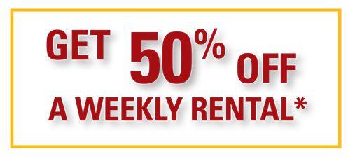50% off rental*