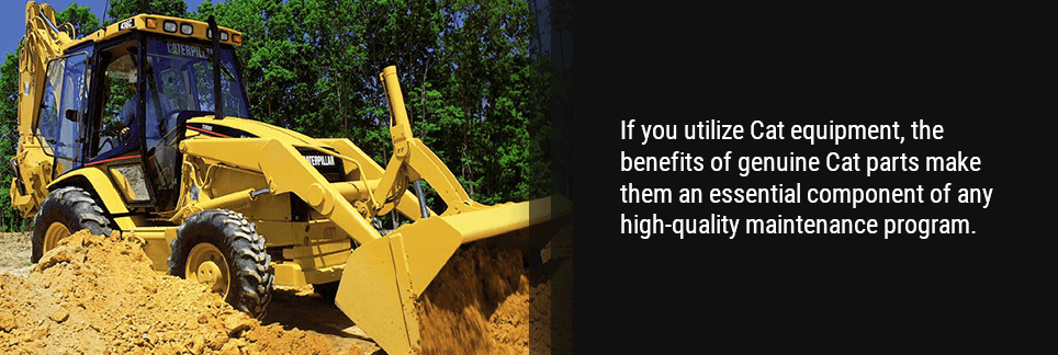 If you utilize Cat equipment, the benefits of genuine Cat parts make them an essential component of any high-quality maintenance program.