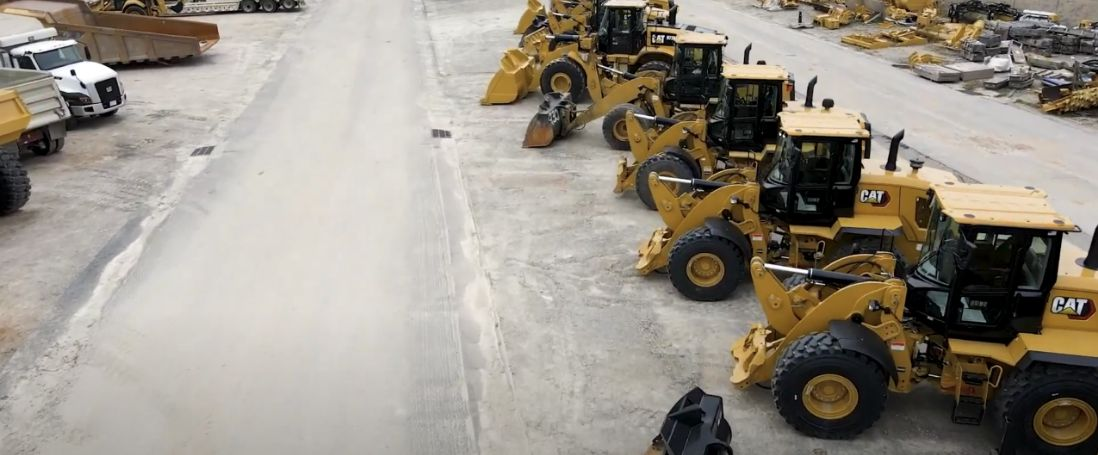 Multiple cat machines lined up